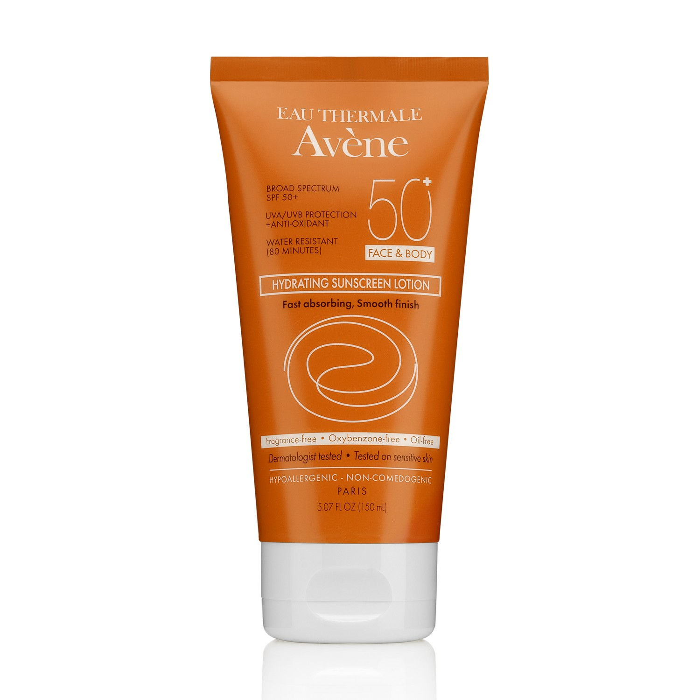 Avene HYDRATING SUNSCREEN LOTION SPF 50+ FACE & BODY (150 ml / 5.07 fl oz)