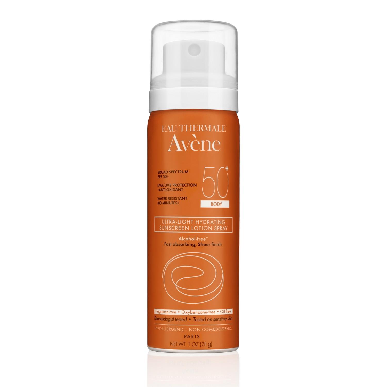 Avene ULTRA-LIGHT HYDRATING SUNSCREEN LOTION SPRAY SPF 50+ BODY (28 g / 1 oz)
