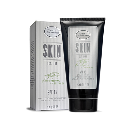 The Art of Shaving DAILY LOTION WITH SUNSCREEN BROAD SPECTRUM SPF 15 Eucalyptus ESSENTIAL OIL (75 ml / 2.5 fl oz)