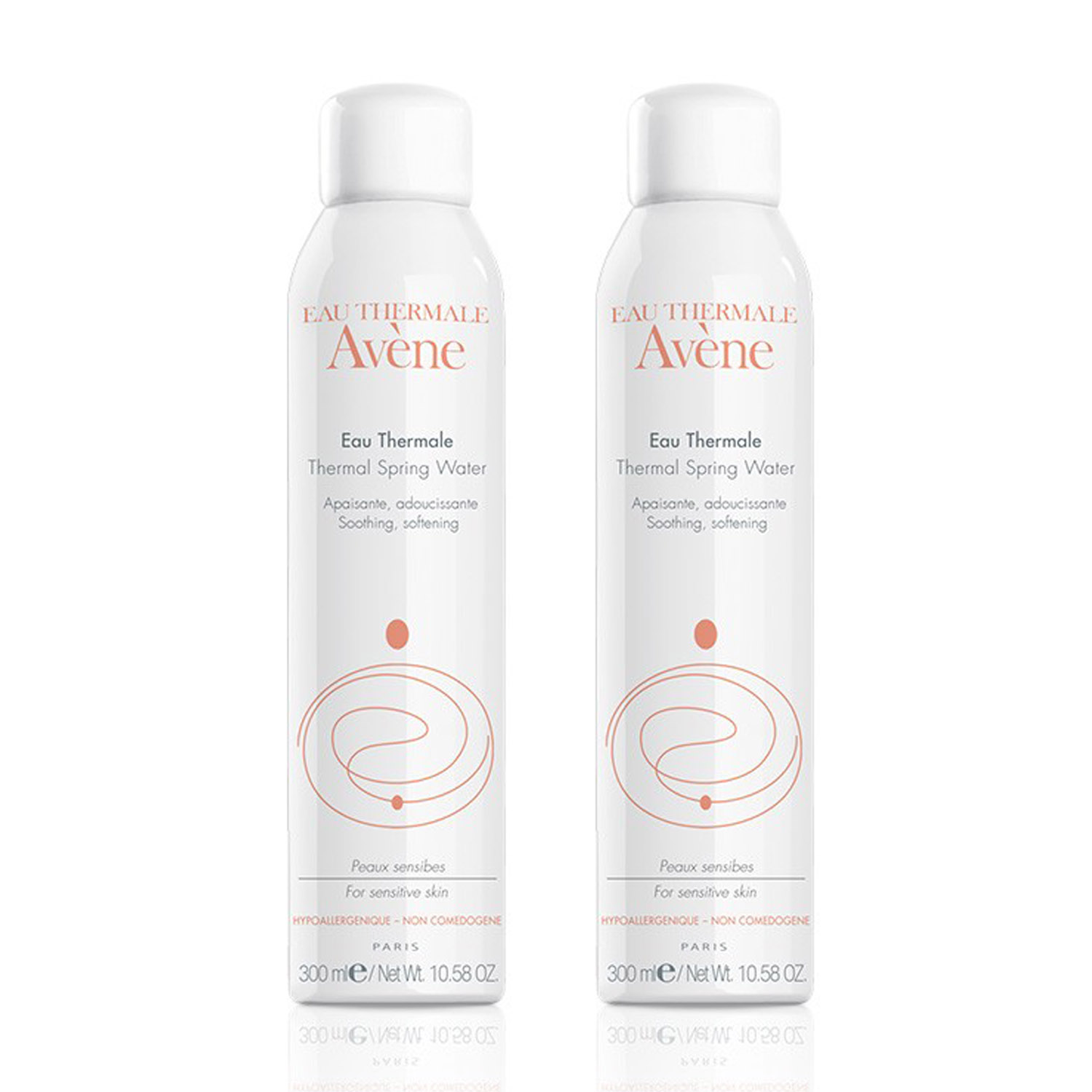 """""""Avene Thermal Spring Water 300 ml Duo includes a duo set of the best-selling Avene Thermal Spring Water to help naturally calm, soothe and soften the skin."""""""