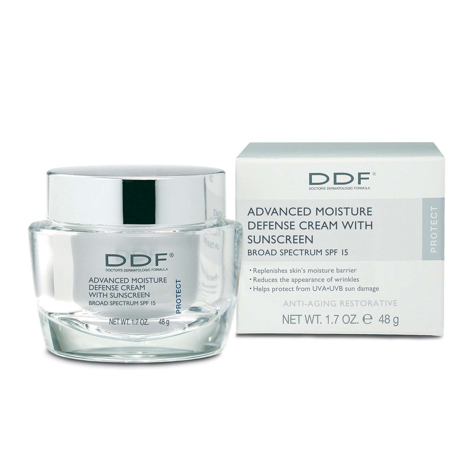 DDF ADVANCED MOISTURE DEFENSE CREAM WITH SUNSCREEN BROAD SPECTRUM SPF 15 (1.7 oz / 48 g)
