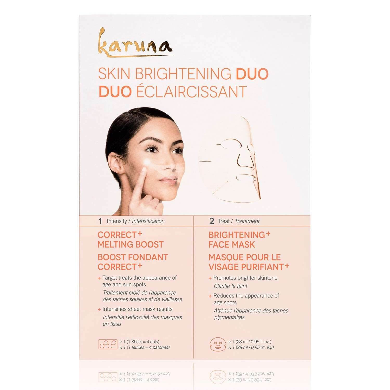 karuna SKIN BRIGHTENING DUO (set (1 sheet + 1 mask))