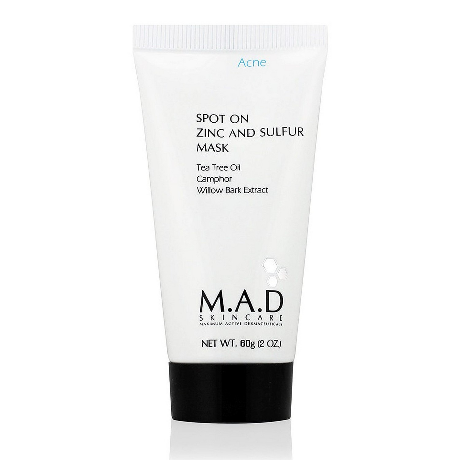 M.A.D SKINCARE SPOT ON ZINC AND SULFUR MASK (60 g / 2.0 oz)