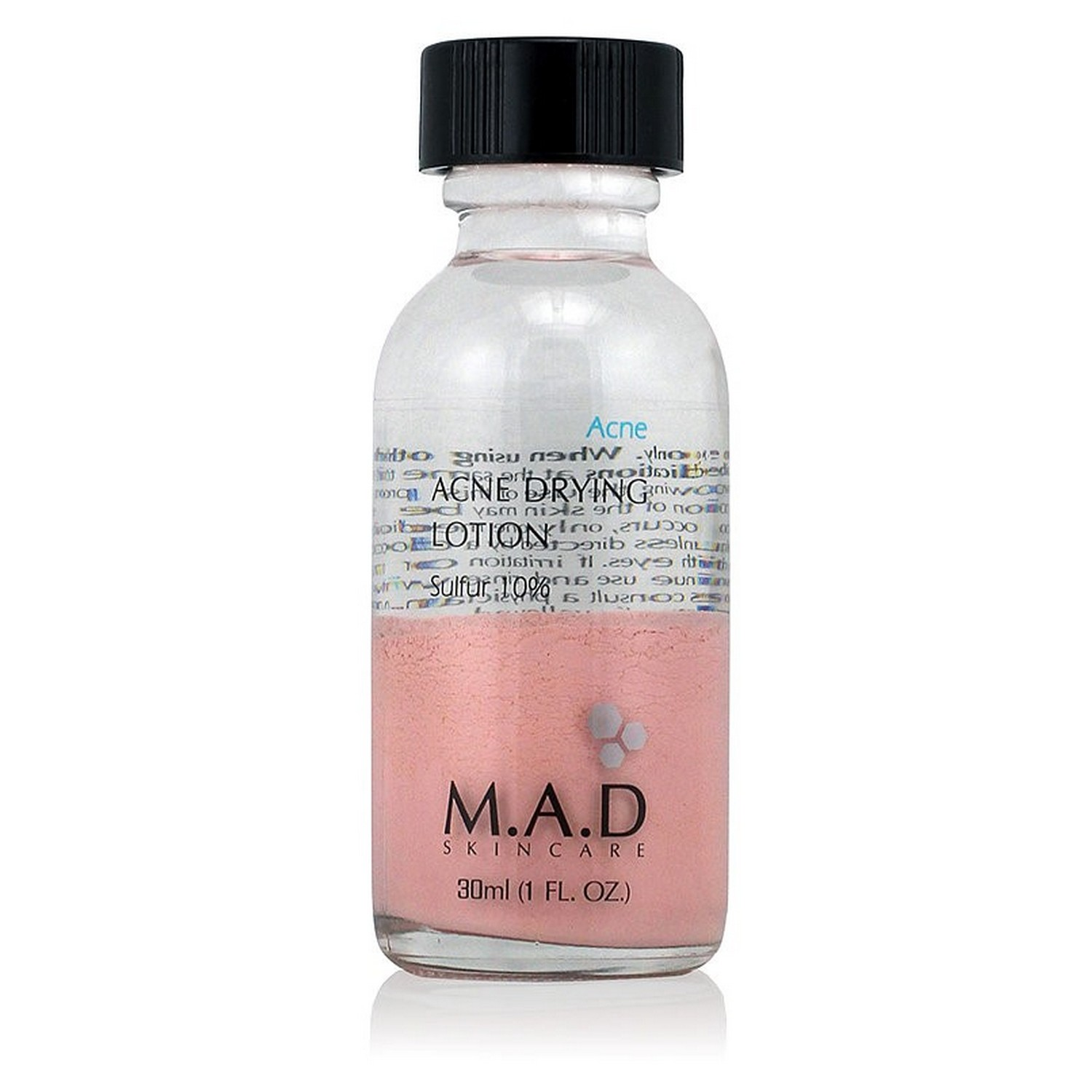 M.A.D SKINCARE ACNE DRYING LOTION Sulfur 10% (30 ml / 1.0 fl oz)