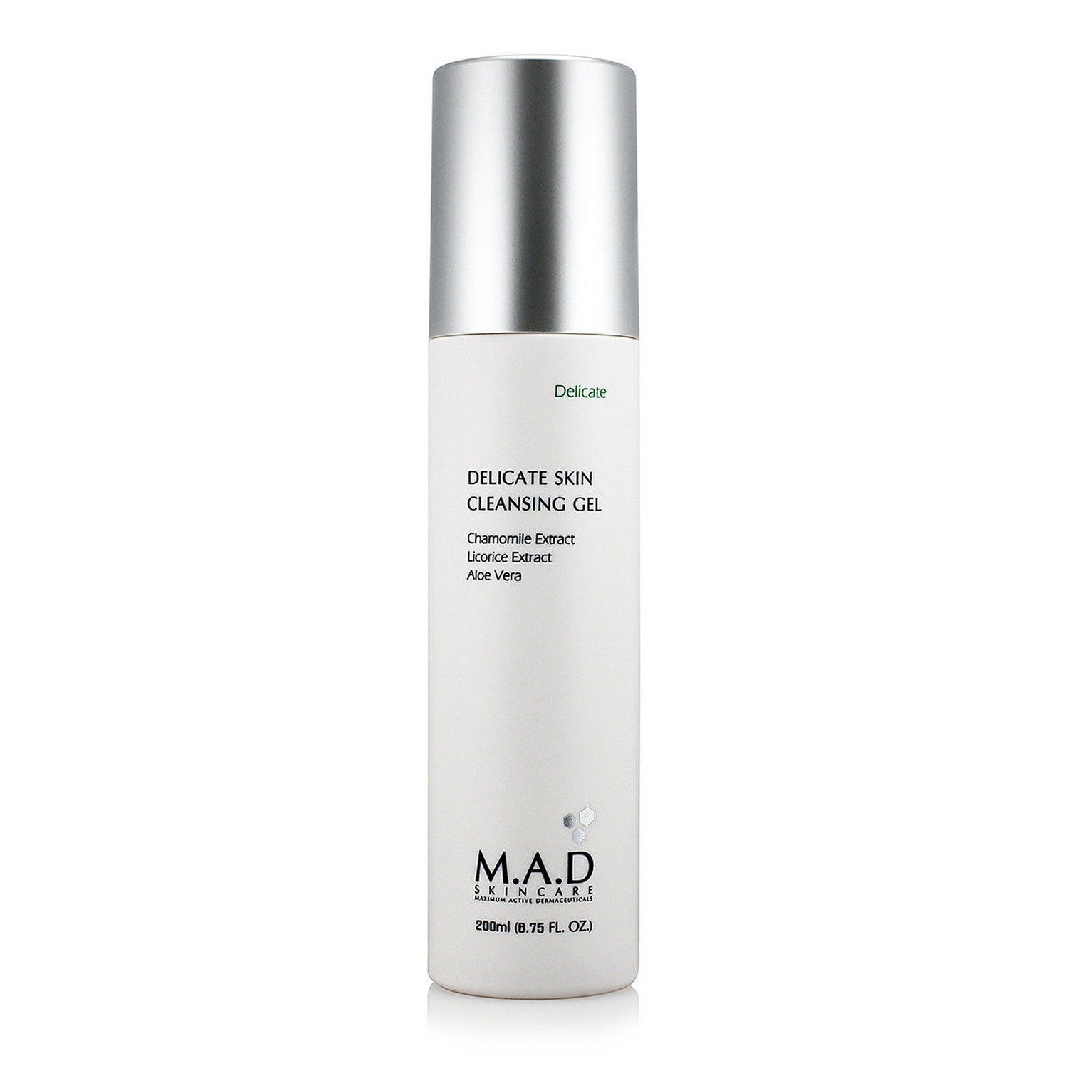 M.A.D SKINCARE DELICATE SKIN CLEANSING GEL (200 ml / 6.75 fl oz)