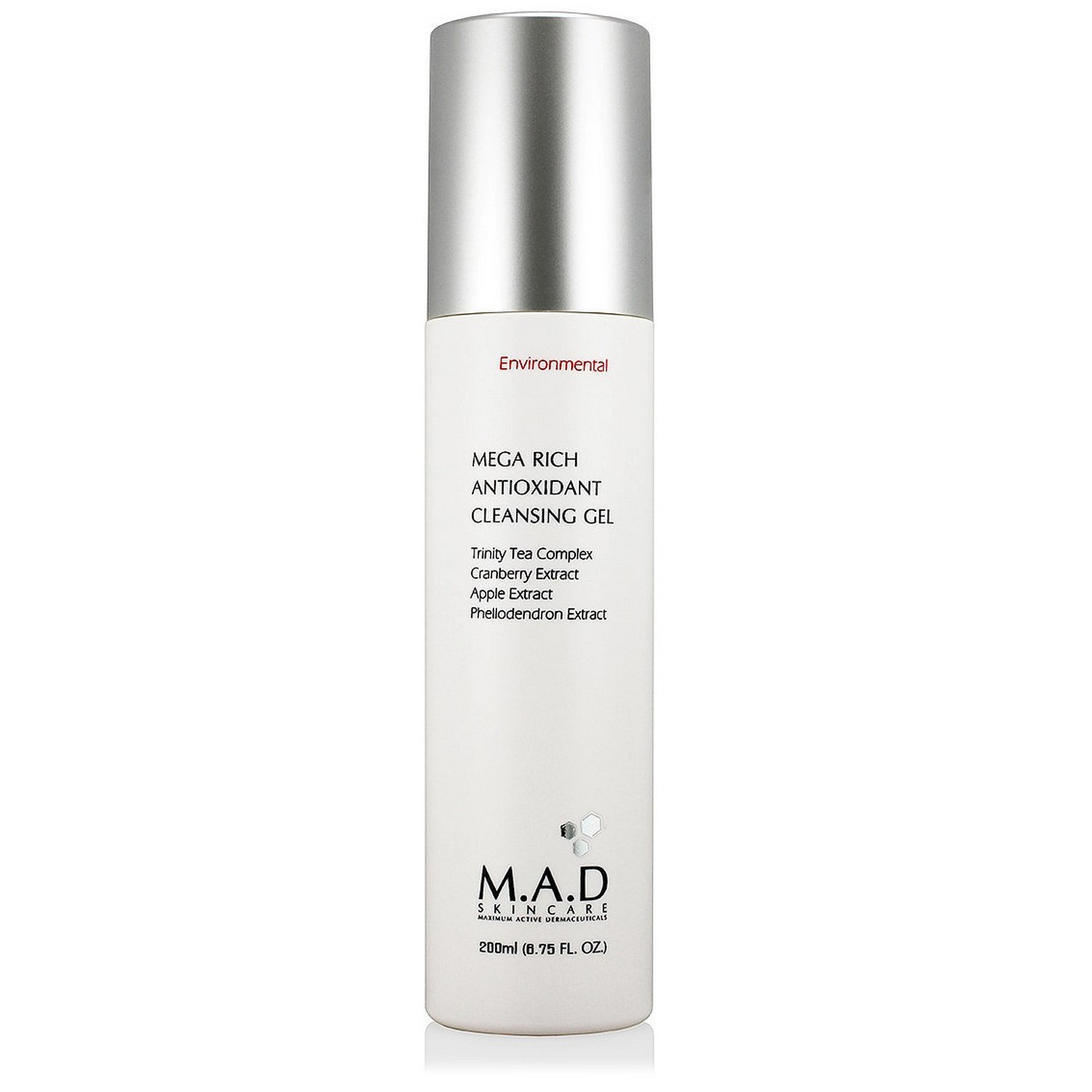 M.A.D SKINCARE MEGA RICH ANTIOXIDANT CLEANSING GEL (200 ml / 6.75 fl oz)