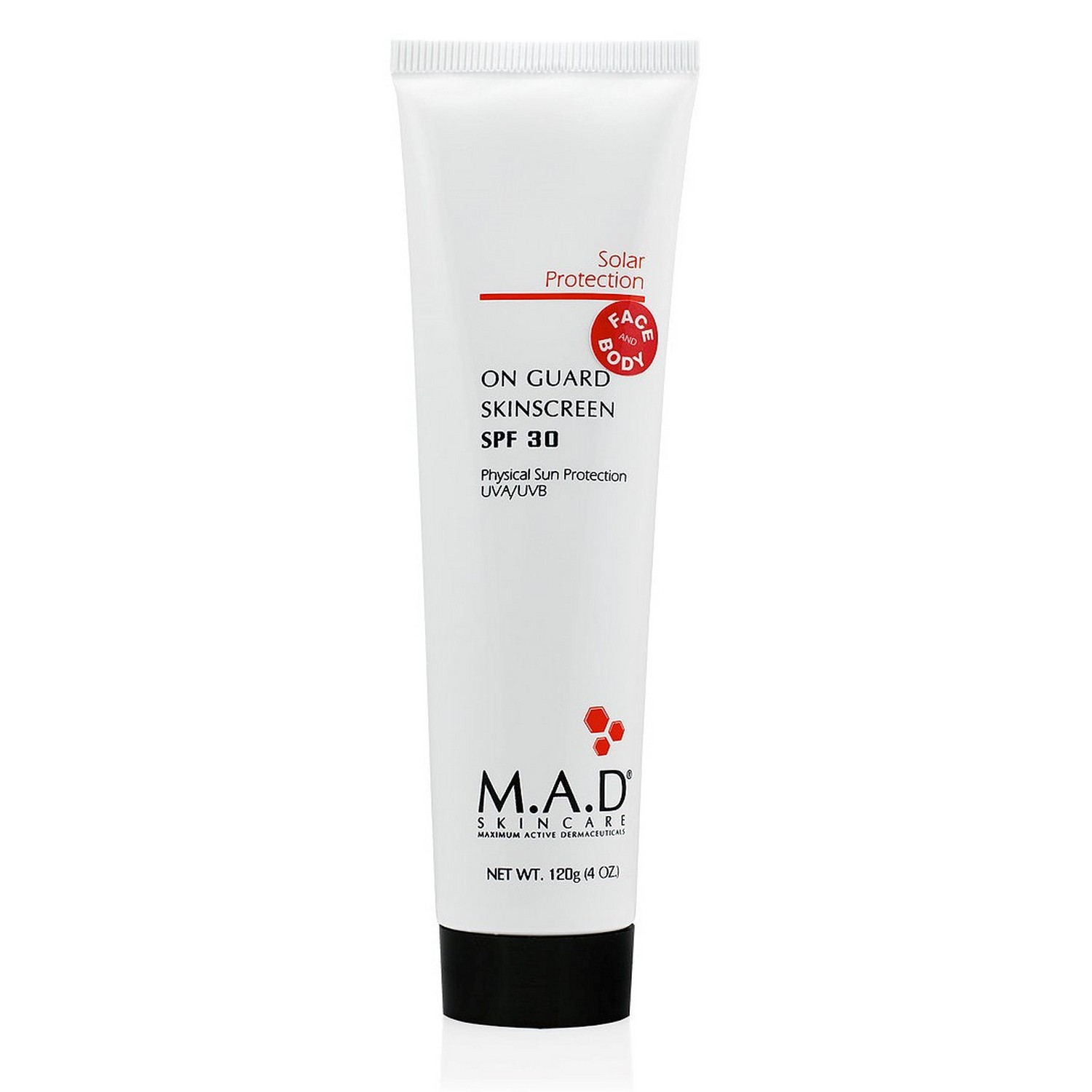 M.A.D SKINCARE ON GUARD SKINSCREEN SPF 30 (120 g / 4.0 oz)