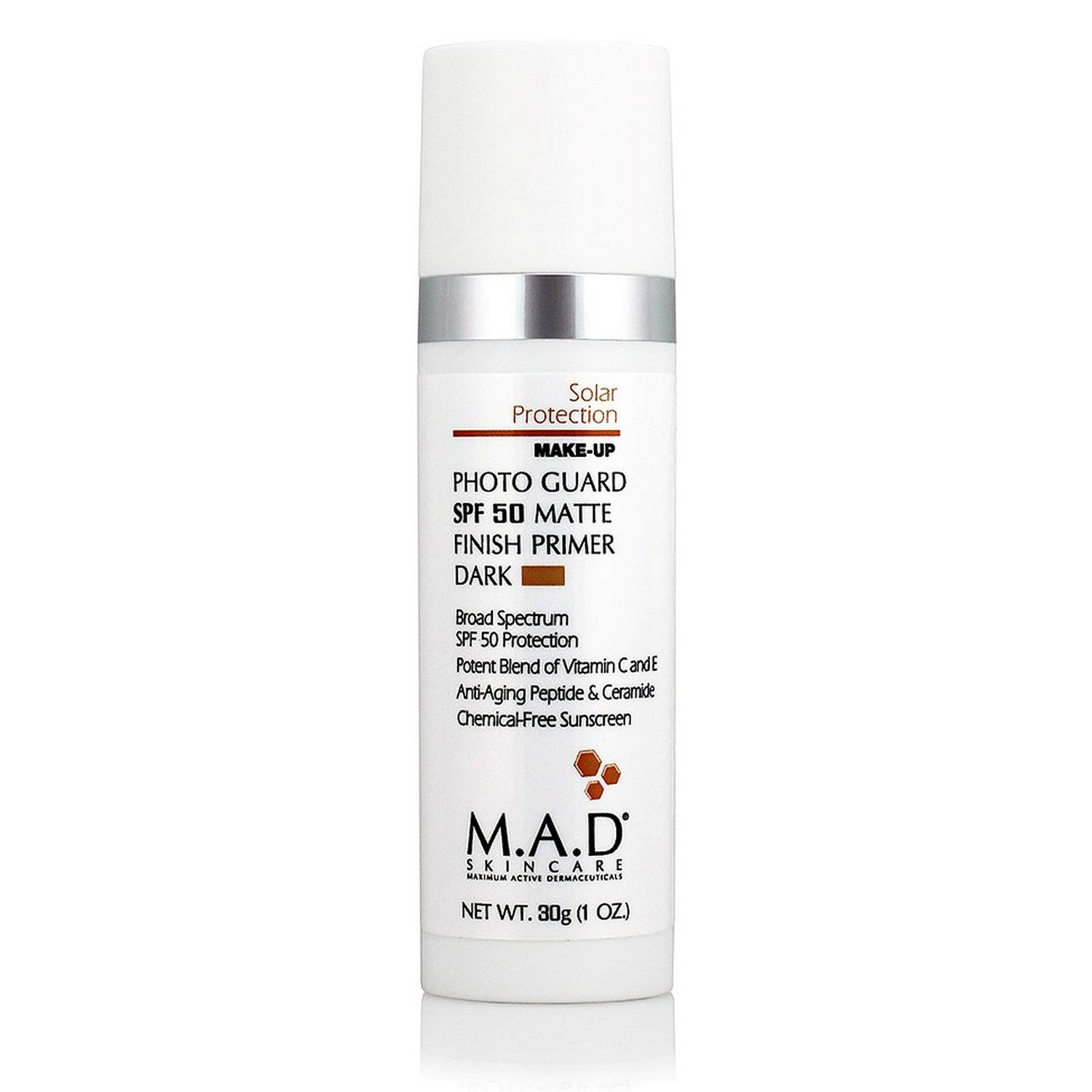 Buy M.A.D SKINCARE PHOTO GUARD SPF 50 MATTE FINISH PRIMER DARK (30 g / 1.0 oz)