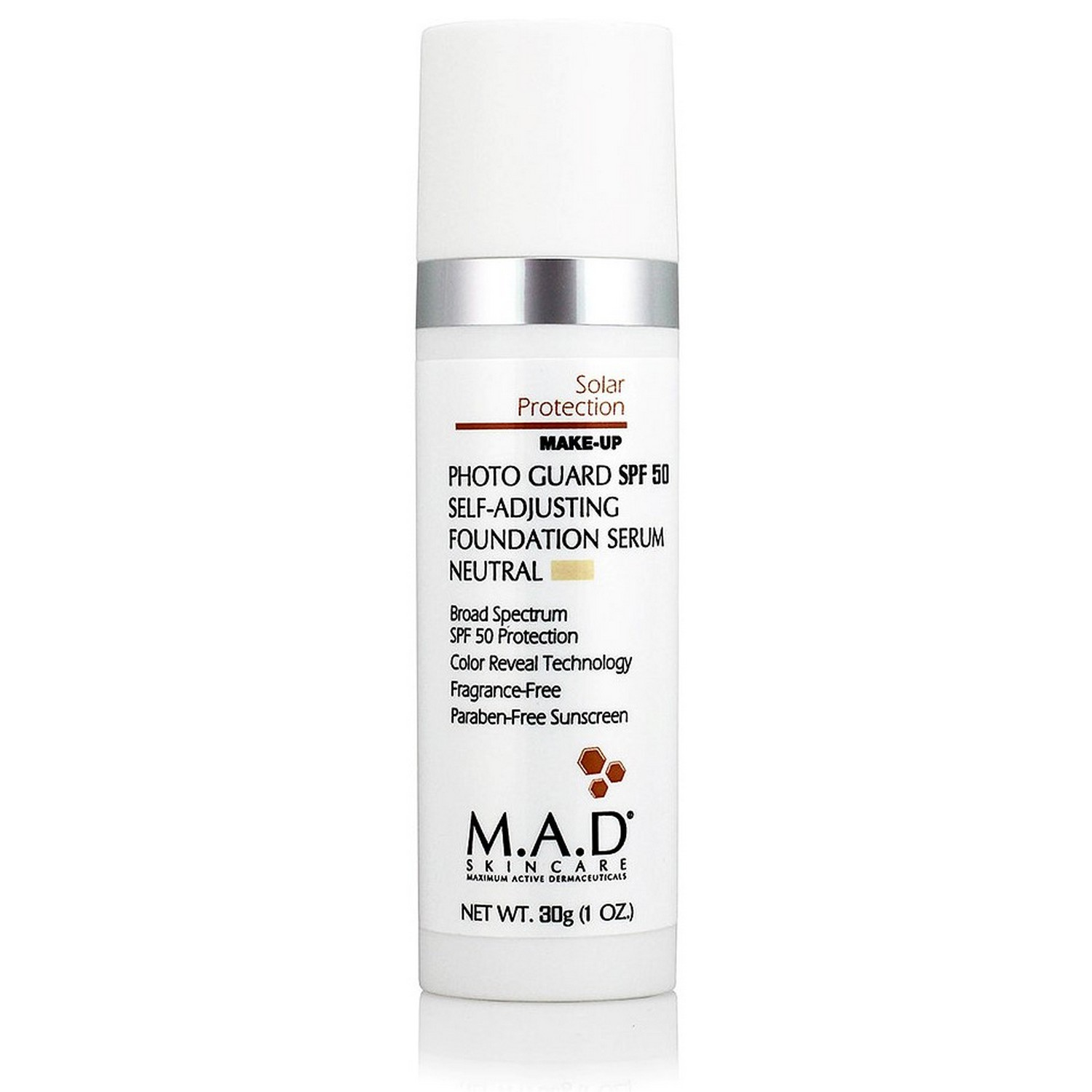 M.A.D SKINCARE PHOTO GUARD SPF 50 SELF-ADJUSTING FOUNDATION SERUM NEUTRAL (30 g / 1.0 oz)