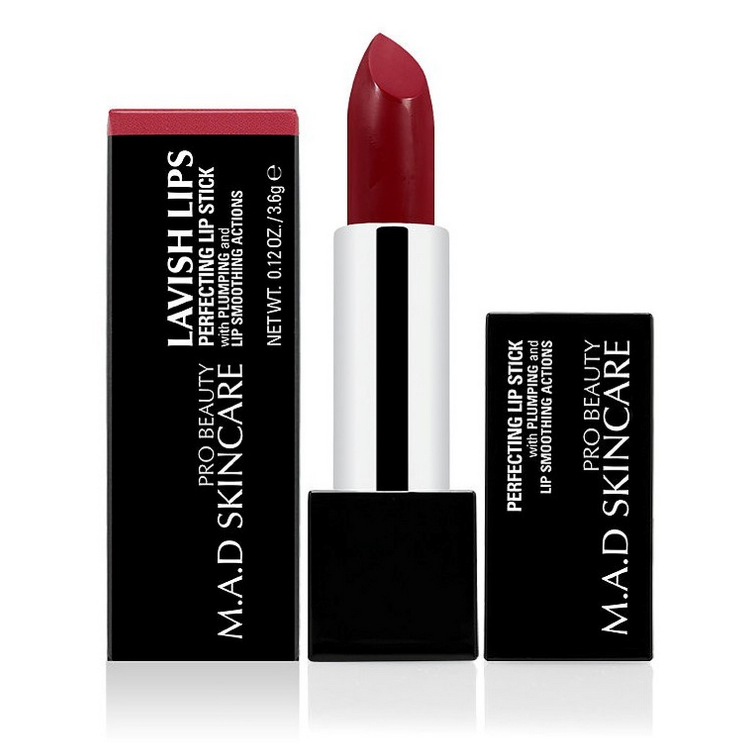 M.A.D SKINCARE LAVISH LIPS PERFECTING LIP STICK - ALLURING (0.12 oz / 3.6 g)