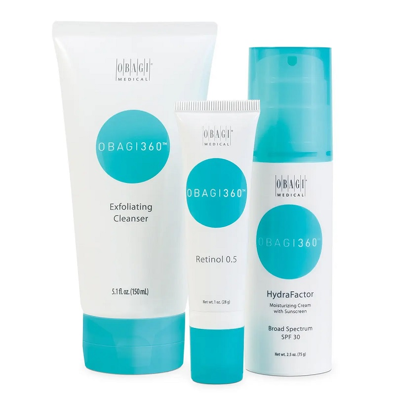 """""""Obagi 360 System features powerful products that effectively combat signs of premature aging for a youthful, rejuvenated appearance."""""""