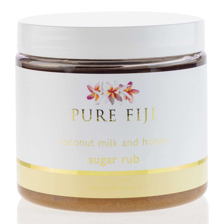 Pure Fiji coconut milk and honey sugar rub (15.5 oz / 457 ml)