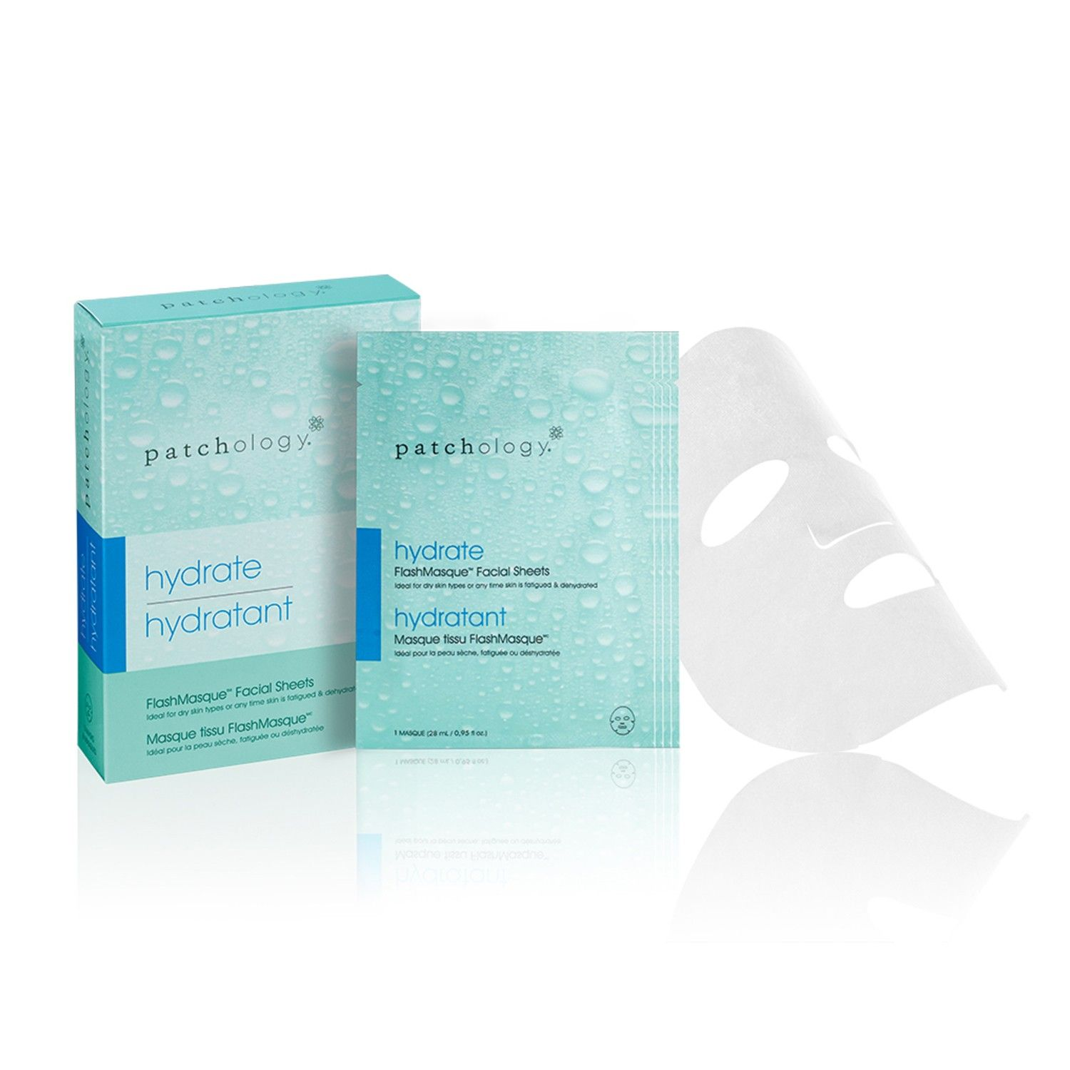 Patchology hydrate - FlashMasque Facial Sheets (28 ml / 0.95 fl oz)