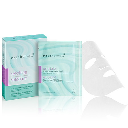 Patchology exfoliate - FlashMasque Facial Sheets - 4 MASQUES (4 x 28 ml / 0.95 fl oz)