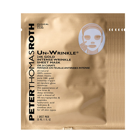 Image of Peter Thomas Roth Un-Wrinkle 24k Gold Intense Sheet Mask (6 Sheet Masks)