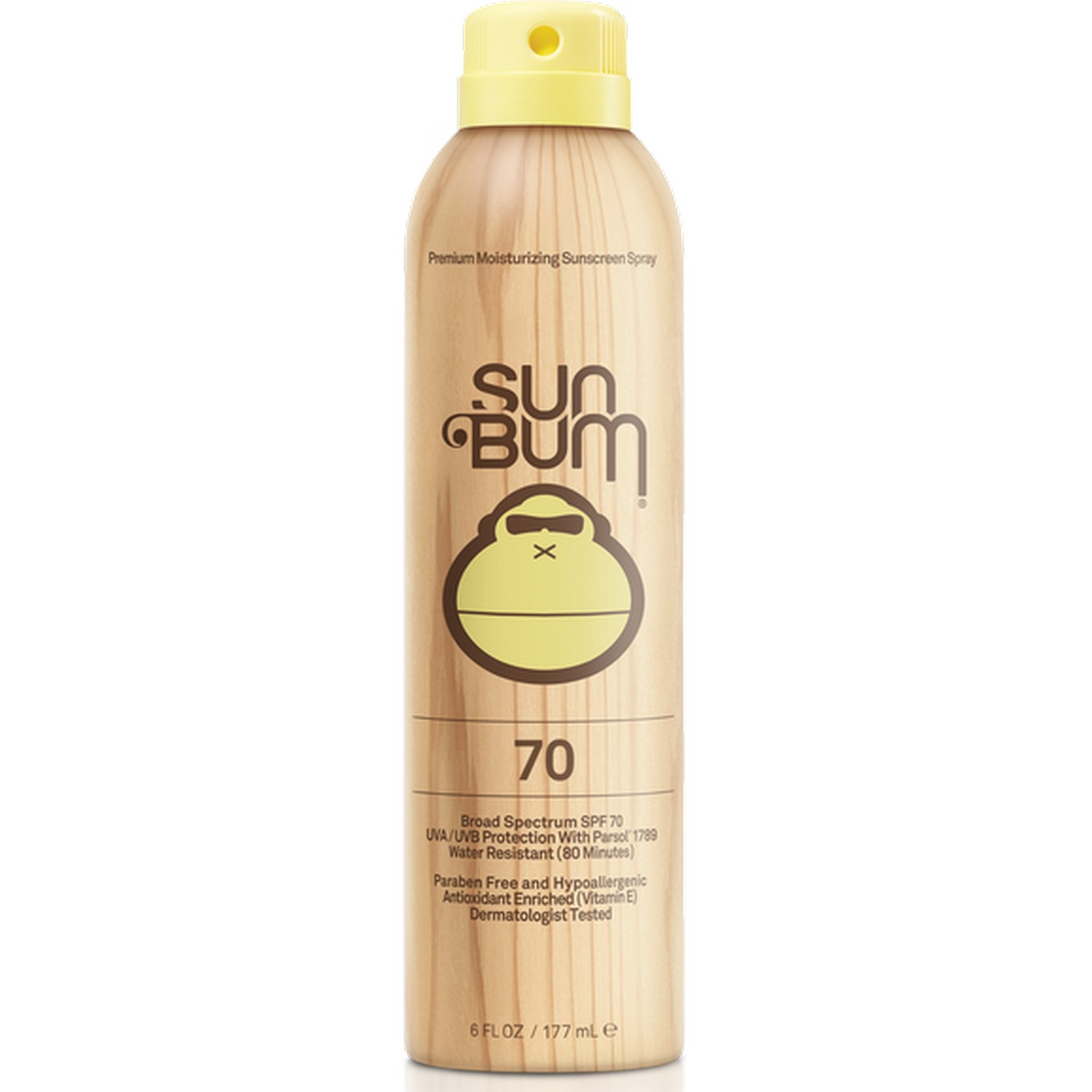 Sun Bum Premium Moisturizing Suncreen Spray 70 Broad Spectrum SPF 70 (6.0 fl oz / 177 ml)