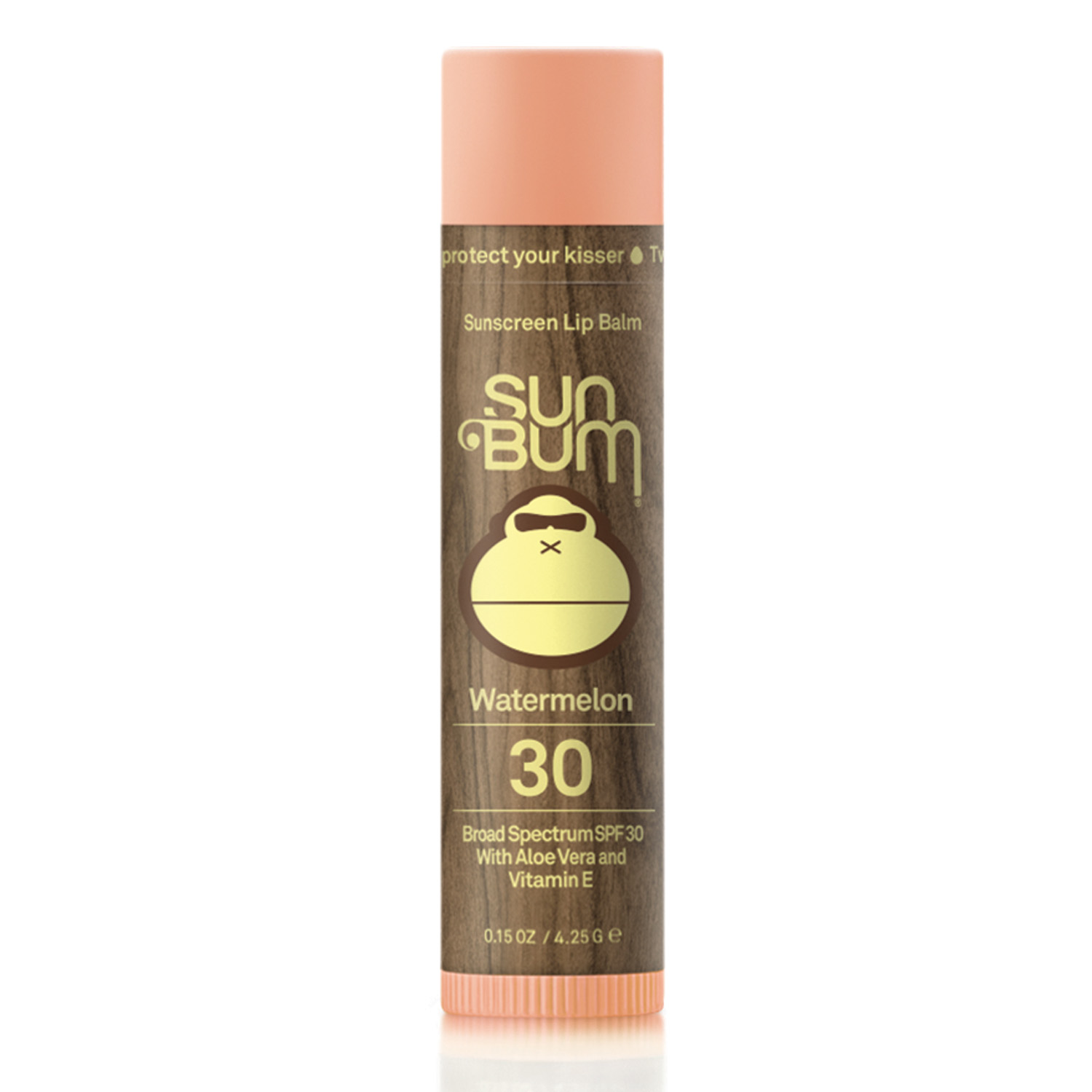 Sun Bum Sunscreen Lip Balm Watermelon 30 Broad Spectrum SPF 30 (0.15 oz / 4.25 g)