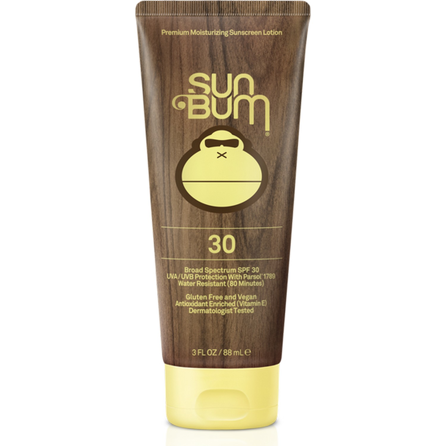 Sun Bum Premium Moisturizing Sunscreen Lotion 30 Broad Spectrum SPF 30 [Tube] (3.0 fl oz / 88 ml)