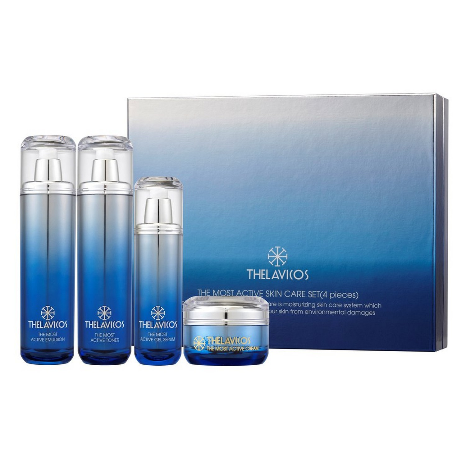 THELAVICOS THE MOST ACTIVE SKIN CARE SET (4 pieces) (set)