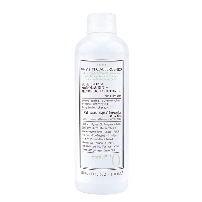 VMV Hypoallergenics SUPERSKIN 3 MONOLAURIN + MANDELIC ACID TONER (150 ml / 5.0 fl oz)
