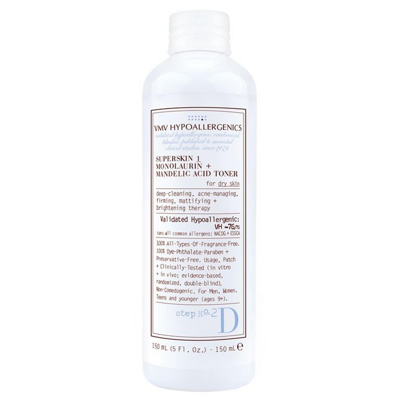 VMV Hypoallergenics SUPERSKIN 1 MONOLAURIN + MANDELIC ACID TONER (150 ml / 5.0 fl oz)