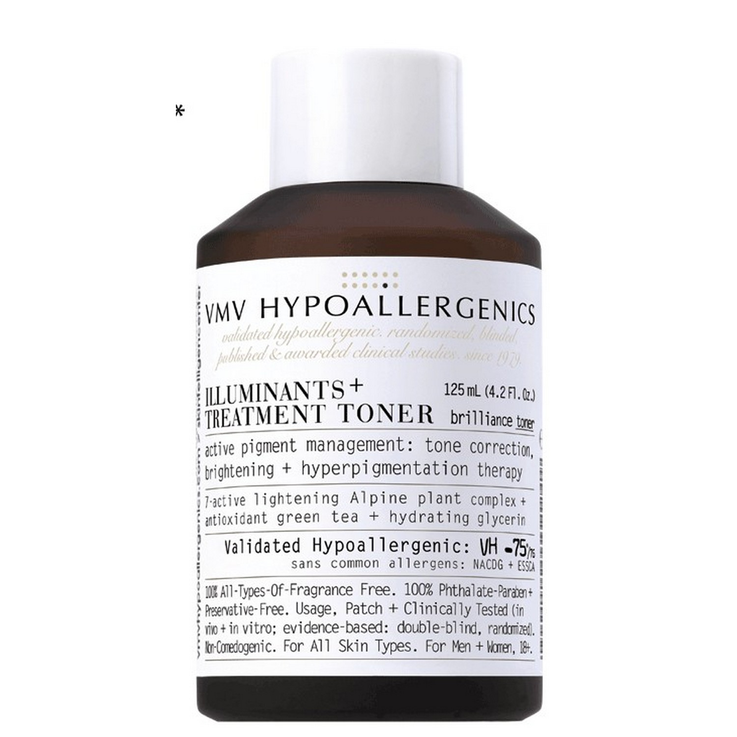 VMV Hypoallergenics ILLUMINANTS+ TREATMENT TONER (125 ml / 4.2 fl oz)