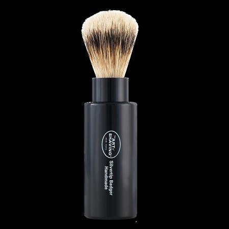 Image of The Art of Shaving Black Turnback Silvertip Badger Shaving Brush (ea)