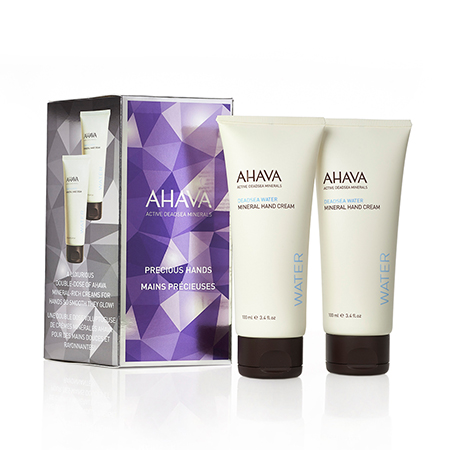 AHAVA Active Deadsea Minerals Precious Hands Set features AHAVA's best-selling mineral hand cream in an exclusive value set ideal for your own enjoyment or as a gift for loved ones.