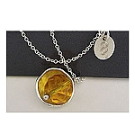 Cor Silver and Citrine Necklace