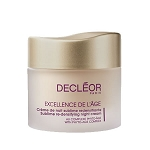 Decleor Excellence De Lage Sublime Redensifying Night Cream with Phyto-Age Complex (1.7 oz.) (Mature and Aging Skin)