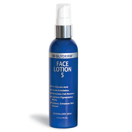GlyDerm FACE LOTION 5 (4 fl oz / 118 ml)