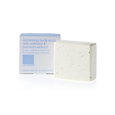 LATHER exfoliating body soap with oatmeal & bamboo extract (3.5 oz)