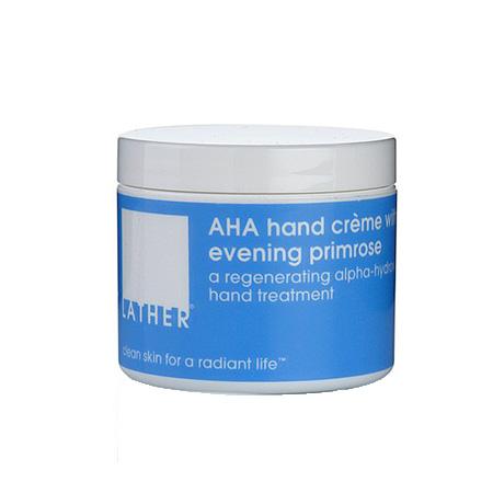 LATHER AHA hand creme w/ evening primrose (4 oz / 113 g)