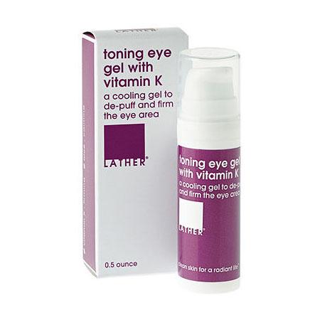 Buy LATHER toning eye gel with vitamin K (0.5 oz)