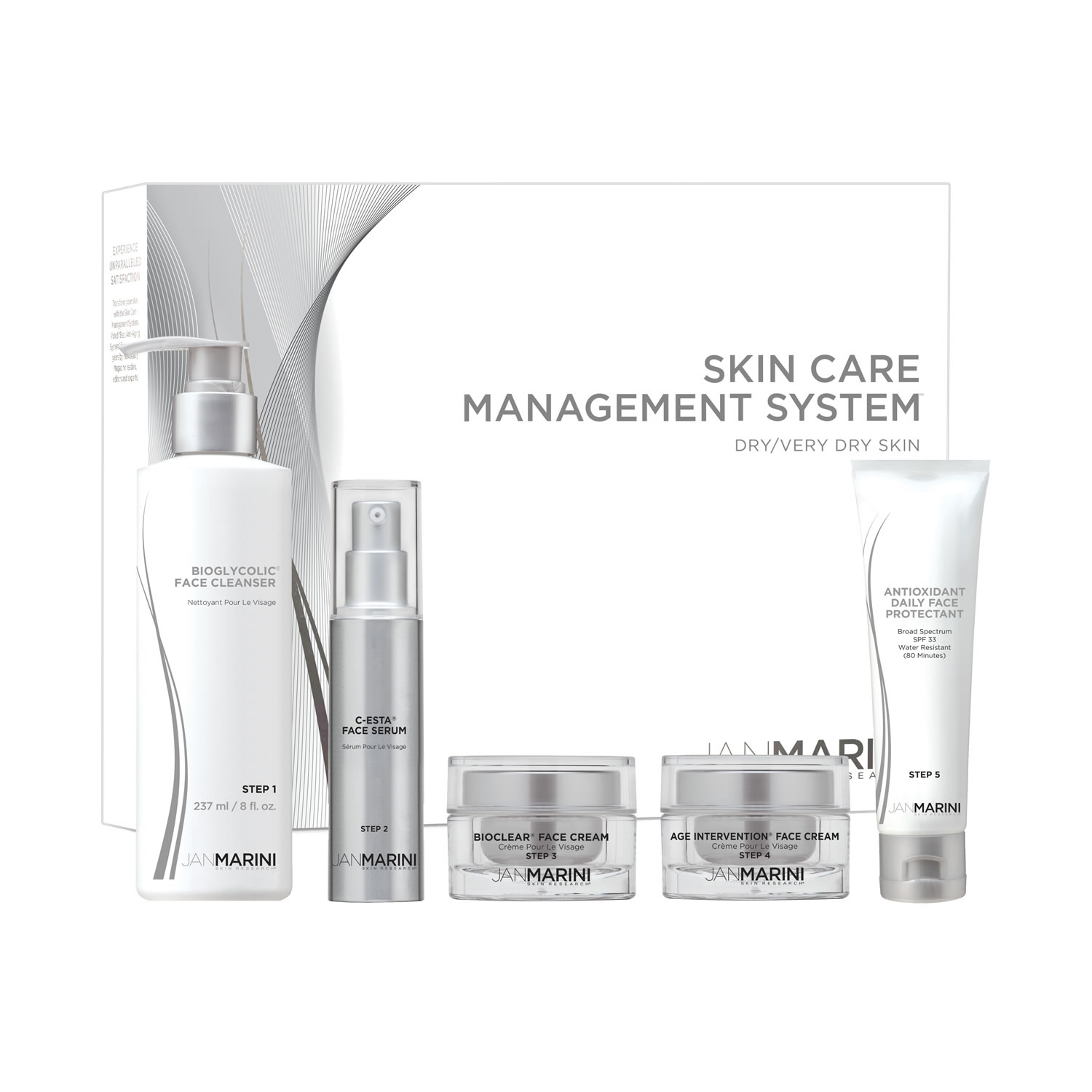 Jan Marini SKIN CARE MANAGEMENT SYSTEM - DRY / VERY DRY (5 pieces set)