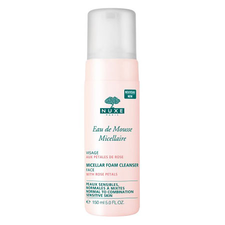 NUXE Micellar Foam Cleanser With Rose Petals is a gentle facial wash that purifies the skin without disturbing its delicate hydrolipid barrier.