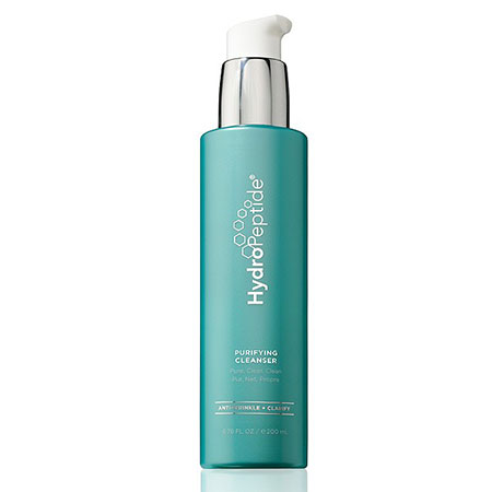 """""""HydroPeptide Purifying Cleanser. Pure, Clear & Clean is a gentle cleanser that thoroughly removes makeup, dirt and impurities while correcting the appearance of imperfections and signs of aging for a healthy, radiant appearance."""""""