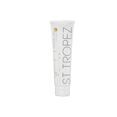 """""""ST. TROPEZ Gradual Tan Plus Firming 4 in 1 Lotion is a quick, easy absorbing self tanning lotion that works to tan, tone, firm and moisturize skin."""""""