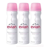 evian Brumisateur Natural Mineral Water Facial Spray (3 x 1.7 oz / 50 ml)