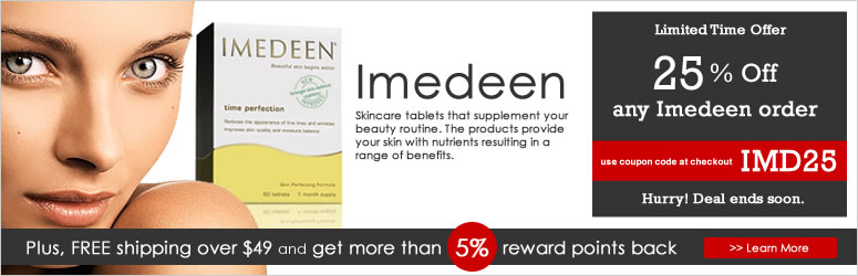 Imedeen, skincare tablets that work in the dermal layer below the surface of the skin