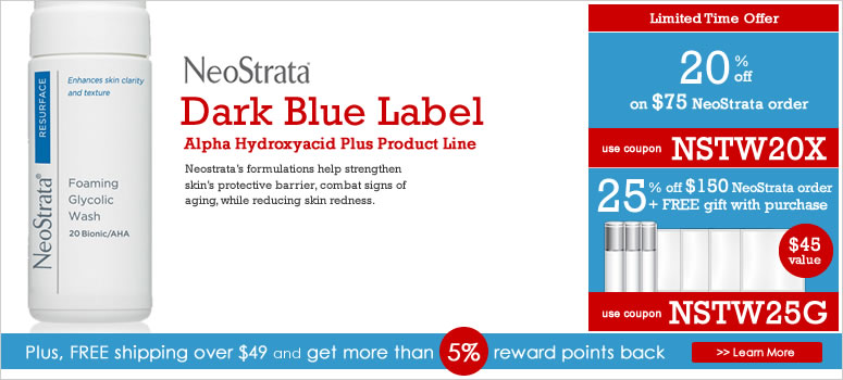 NeoStrata Alpha Hydroxyacid Plus Line Sale. Use coupon to save big on NeoStrata.