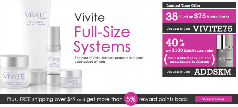 Vivite Back Bar Skin Care Products