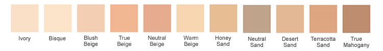 Borghese Foundation Color Chart