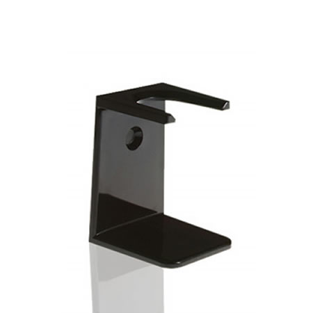 Razor and Shaving Brush Stand by Slate Shave This is a state of art pedestal, which helps to keep your shaving tools in top-notch condition. It is designed to work well with silvertip brushes .