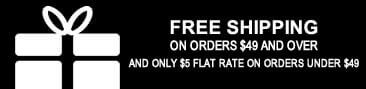 Free Shipping on Orders $49 and Over