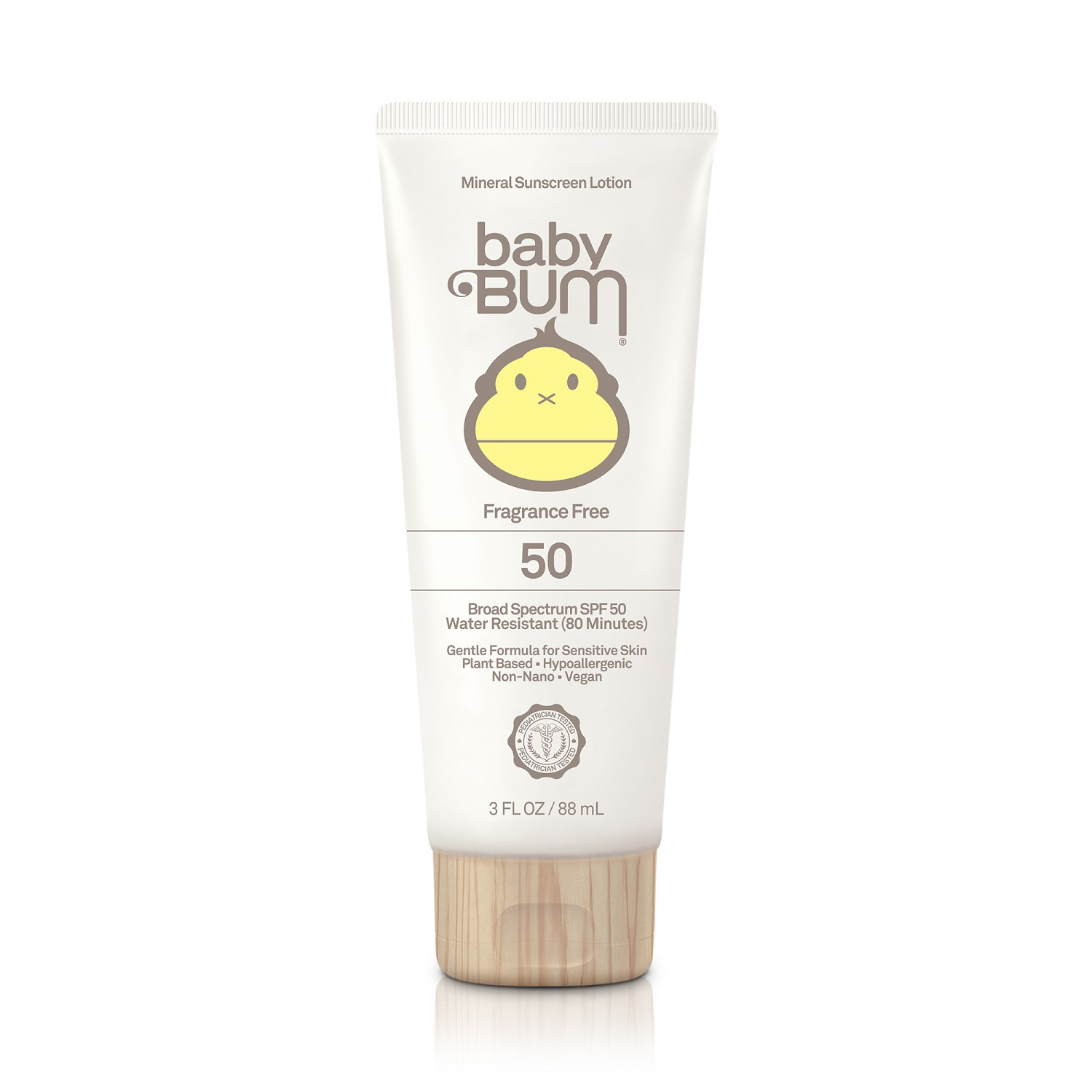 Sun Bum baby Bum 50 Mineral Sunscreen Lotion Broad Spectrum SPF 50 [Fragrance Free] (3.0 fl oz / 88 ml)