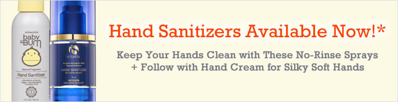 Hand Sanitizers Available Now