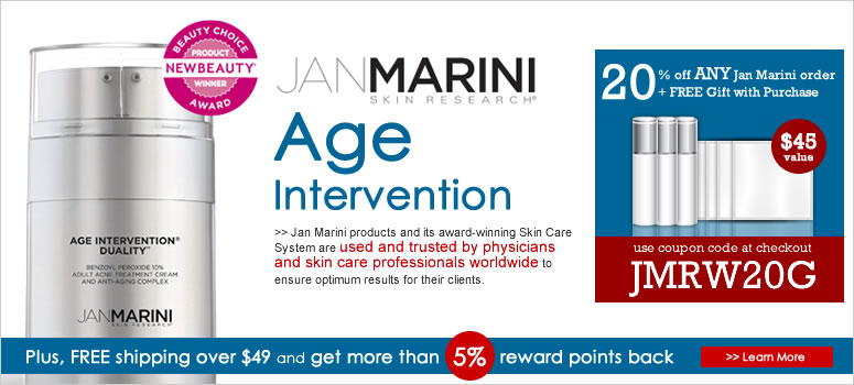 Jan Marini Age Intervention Sale. Use coupon to save big on Jan Marini Age Intervention Products.