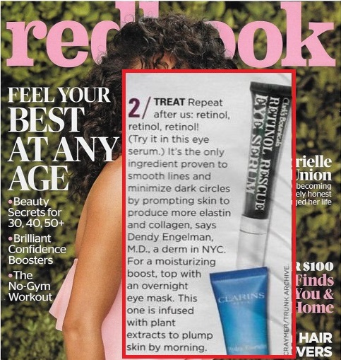 Clark's Botanicals Retinol Rescue Eye Serum as seen in Redbook
