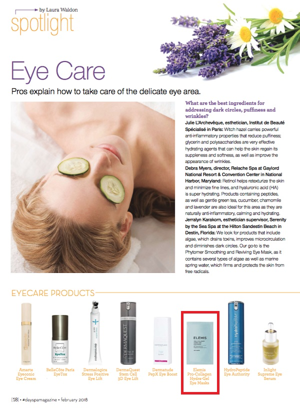 Elemis Pro-Collagen Hydra-Gel Eye Masks as seen in Day Spa